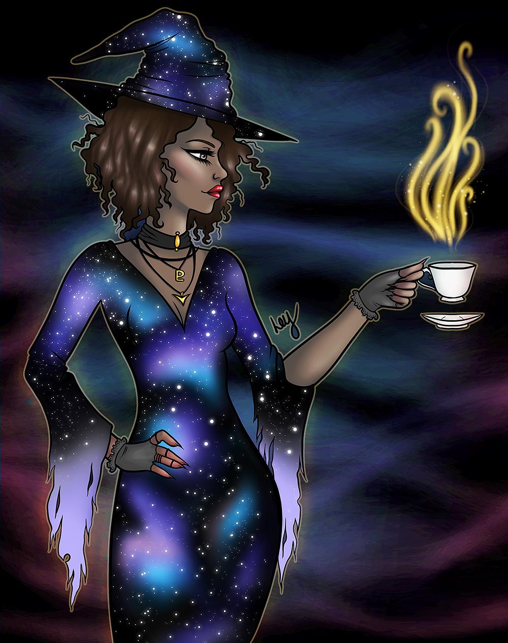Galaxy Witch by leys
