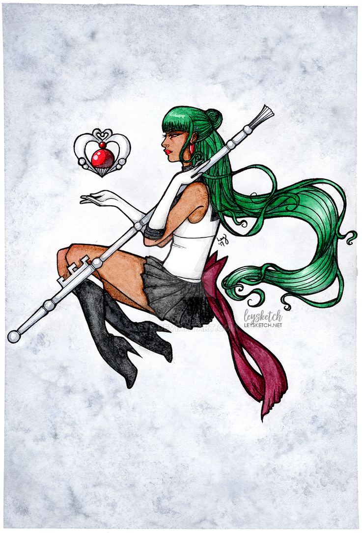 Space/Time - Sailor Pluto by leys
