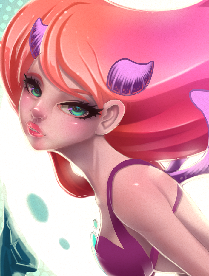 devil girl close up by Victoria-Star