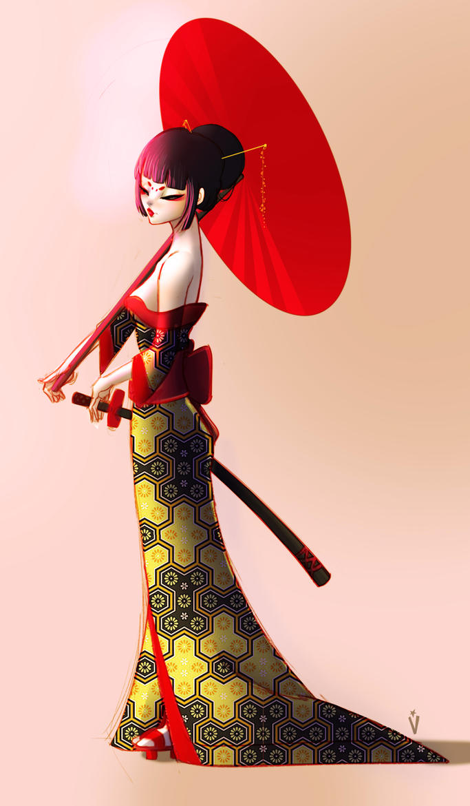 Geisha C by Victoria-Star