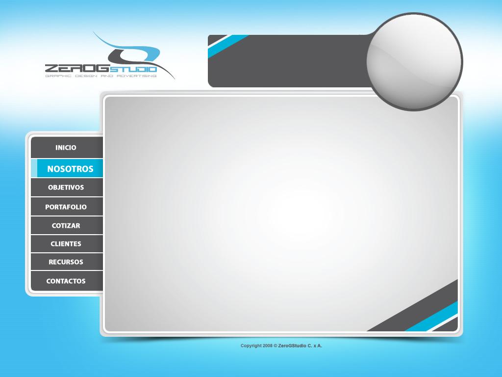 zerogstudio web template by zerogg on deviantart. Black Bedroom Furniture Sets. Home Design Ideas