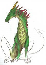 Dragon a medio color by Kelpiie