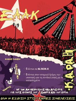 anticapitalist struggle poster