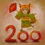 Chibi-Kitsuneka. 200 subscribers in VK
