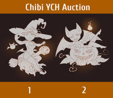 [open] YCH #13 Chibi Halloween Auction