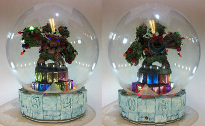 Christmas Tree Rex Waterless Snow Globe