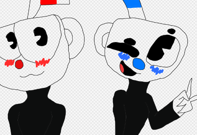 Cuphead And Mugman by fluffycatjeff