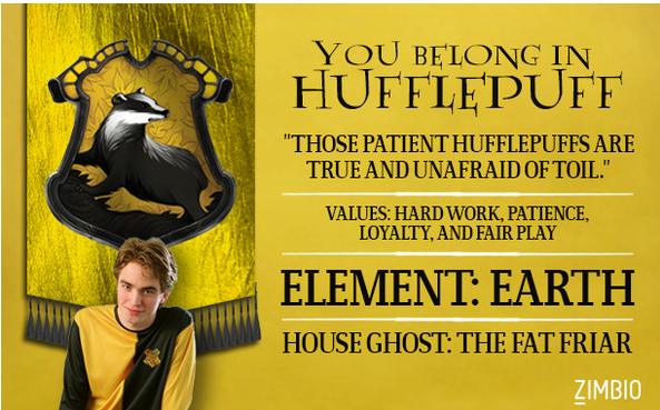 I belong to Hufflepuff by fluffycatjeff