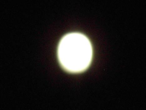 Light moon in the dark night