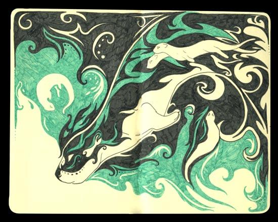 Tri-fold Dreams: Otter by Ishaway