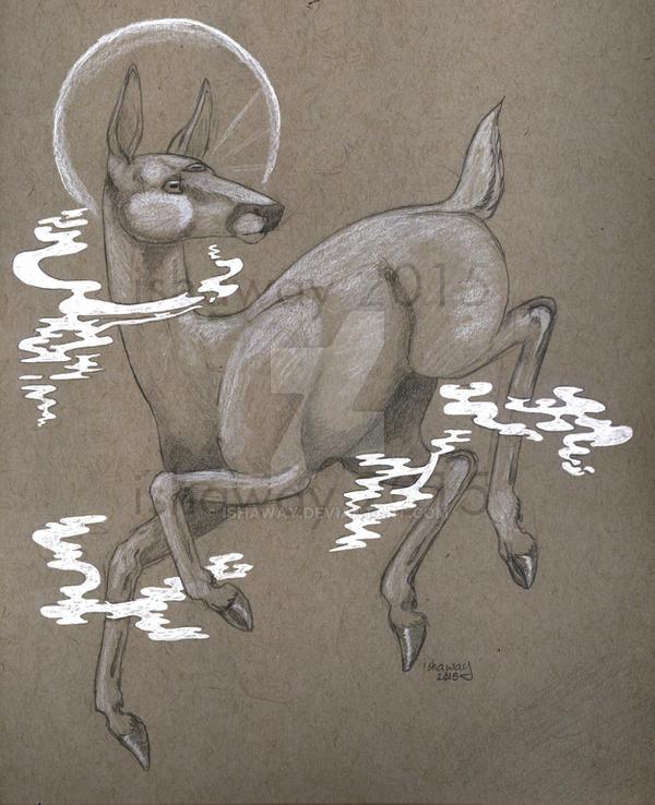 Floating doe by Ishaway