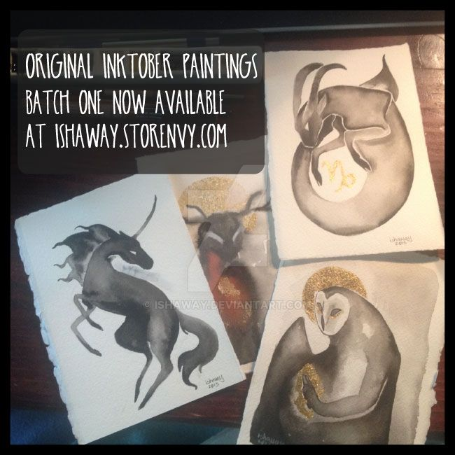 Inktober Paintings for Sale by Ishaway