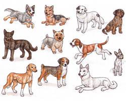 A - Dog Breeds -page 3- by Bafa