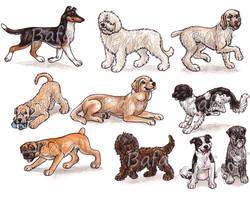 S - Dog Breeds -page 4- by Bafa