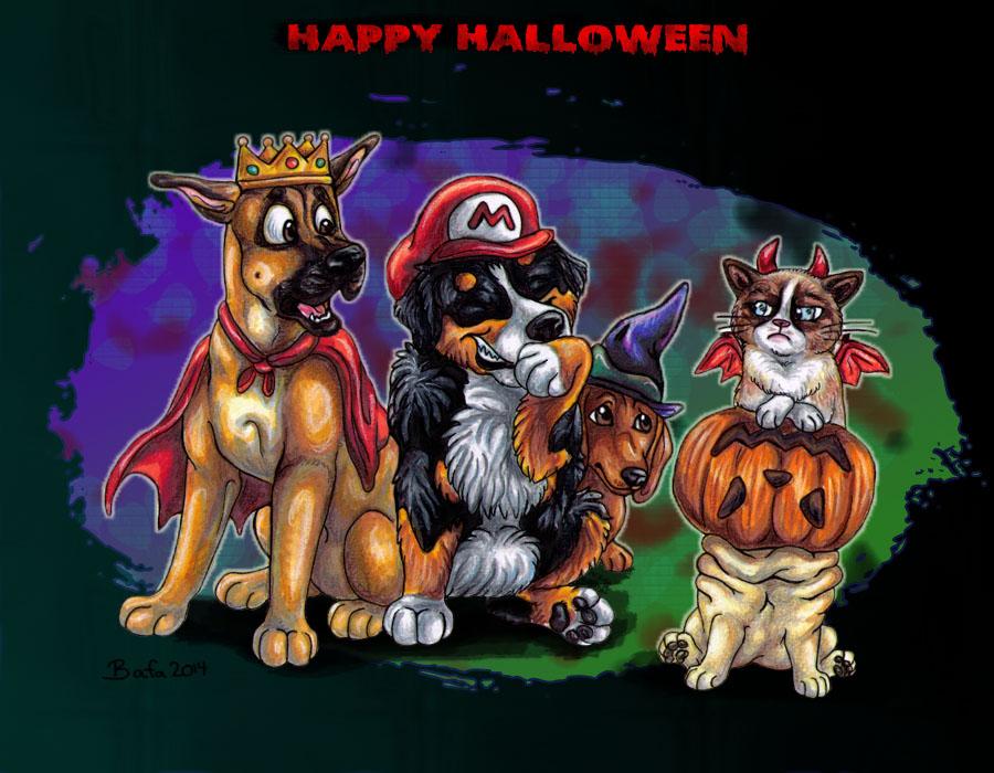 Grumpy Halloween by Bafa