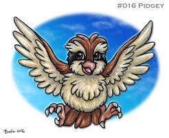 #016 Pidgey by Bafa