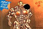 MEN'S DAY SALE- ON MUSCLEGIRL COMICS by Alphadaawg