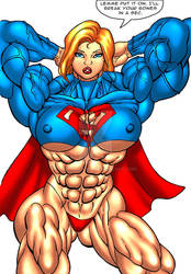 MUSCULAR Supergirl by Alphadaawg