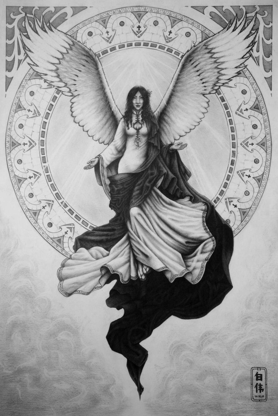 Guardian Angel Tattoo Sketches My Guardian Angel by V...