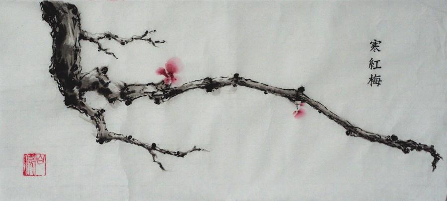 Plum flowers by VforVieslav