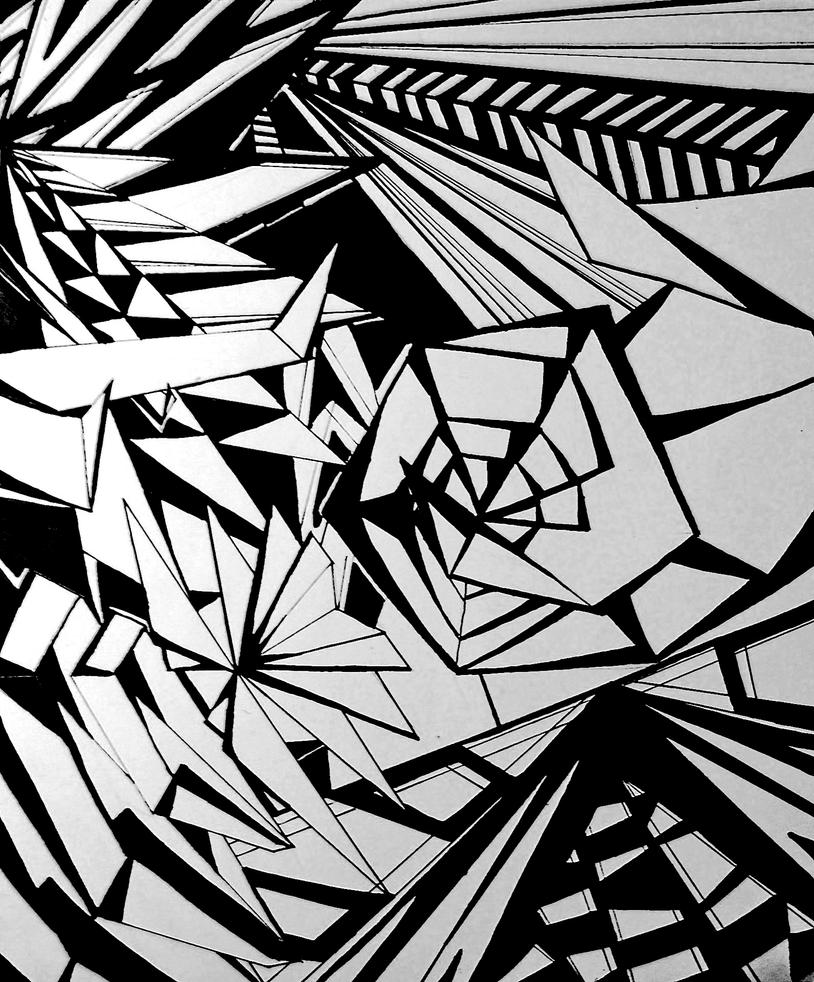 Abstract Line Art : Geometric abstract drawing by starfruit on deviantart