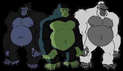 A bunch of DC Fatass Gorillas