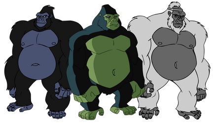 A bunch of DC Fatass Gorillas