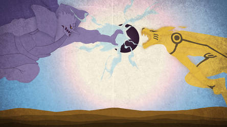 Susanoo and Kurama Final Clash Desktop Wallpaper by SL4eva