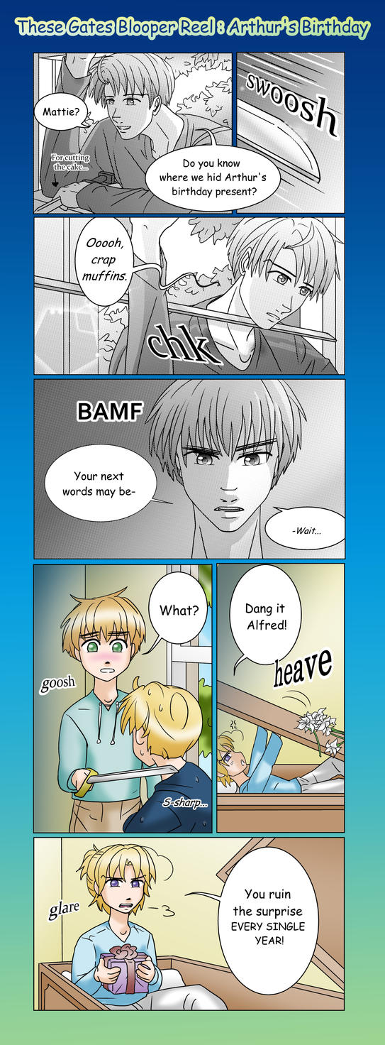 APH-These Gates Blooper Reel: Arthur's Birthday by TheLostHype