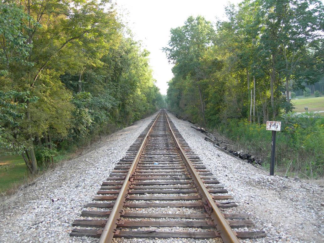 Train Track Stock