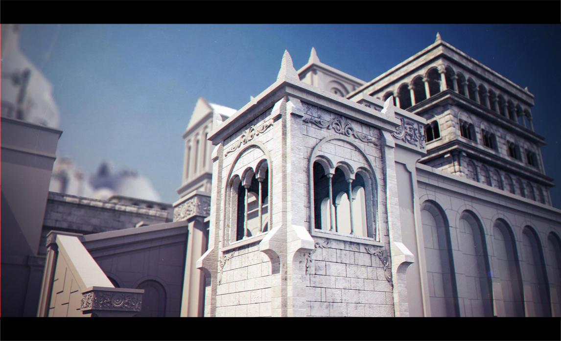 house in Minas Tirith by 3DEllesar