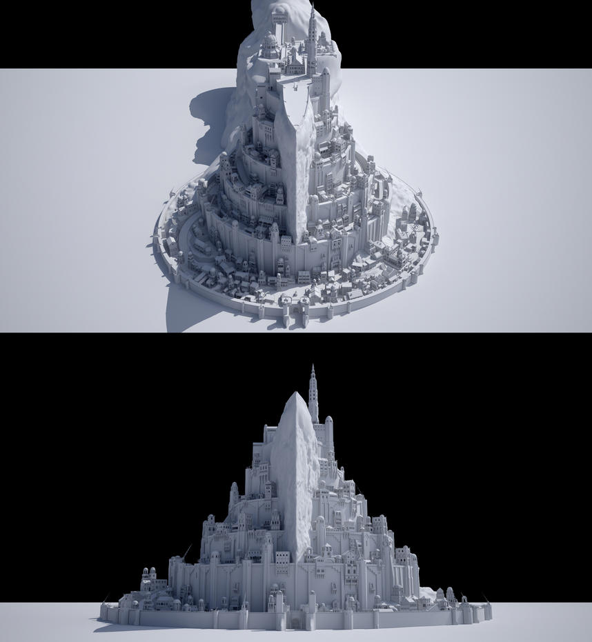 Minas Tirith by 3DEllesar