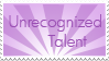 UnrecognizedTalent Stamp by innocent--angel