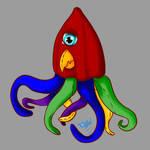 Plush Squid by ChovexaniArt