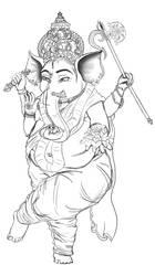 Ganesha by ChovexaniArt