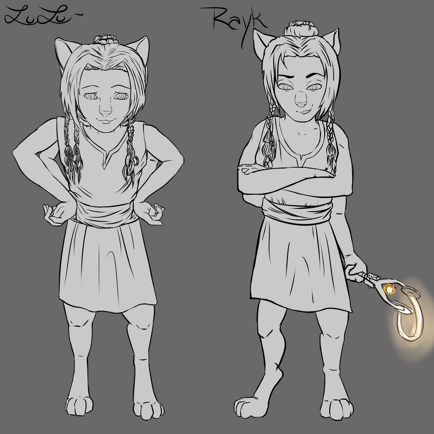 Rayk and Lulu Kittens by ChovexaniArt