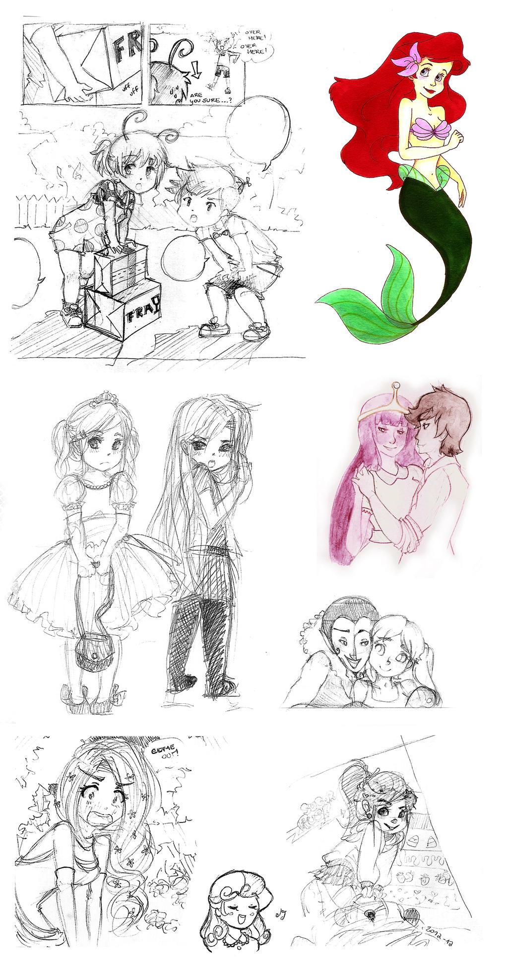 very random sketchdump by Nika-Tachikawa