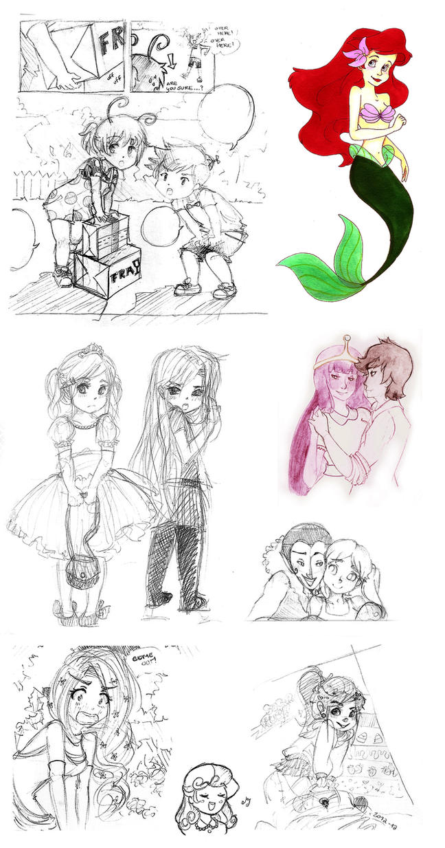 very random sketchdump by Nika-Tachikawa
