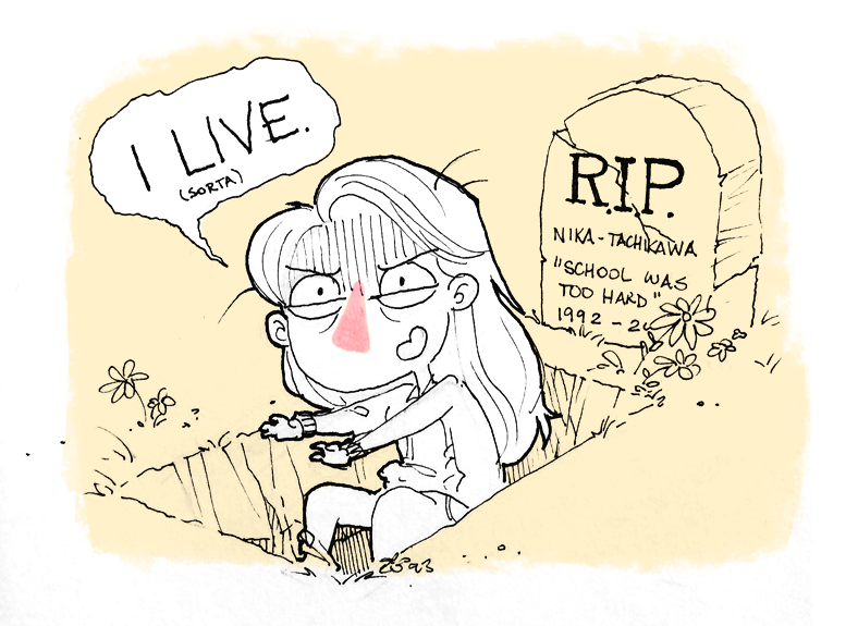 a message from the dead by Nika-Tachikawa