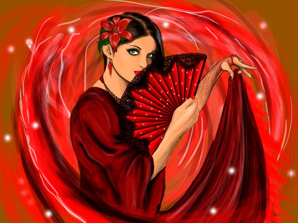 Flamenco girl by undead12slaer
