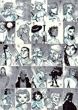 Wheel of Time Sketch Cards
