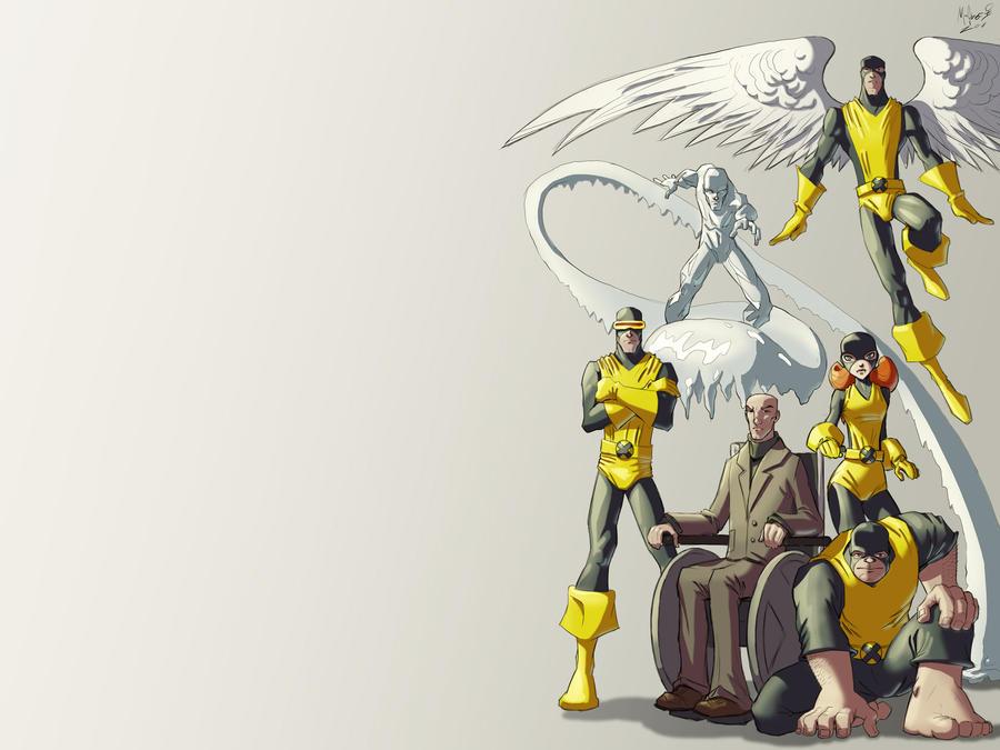 Classic X-Men Wallpaper by AdamMasterman