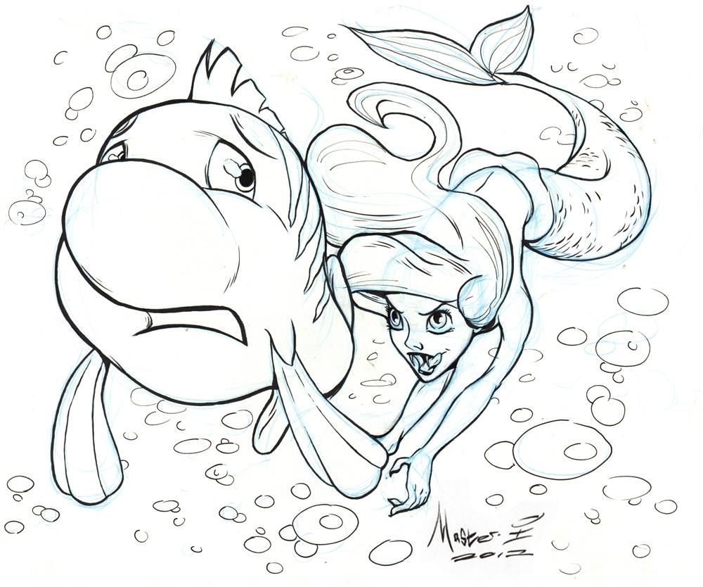 The Little Mermaid As A Vampire By AdamMasterman On