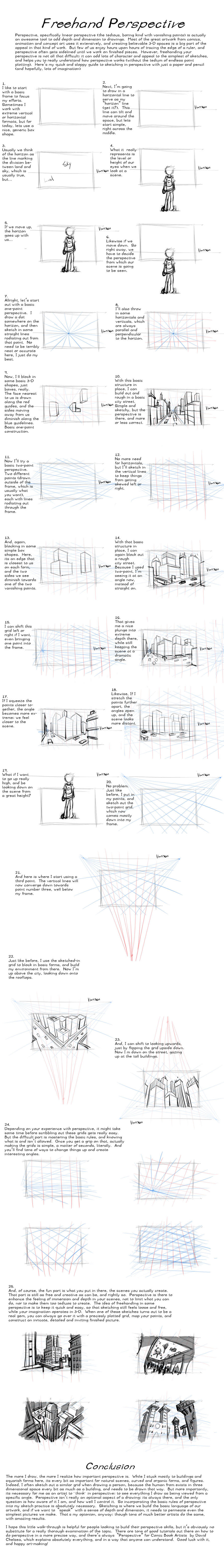Freehand Perspective Drawing Tutorial by AdamMasterman