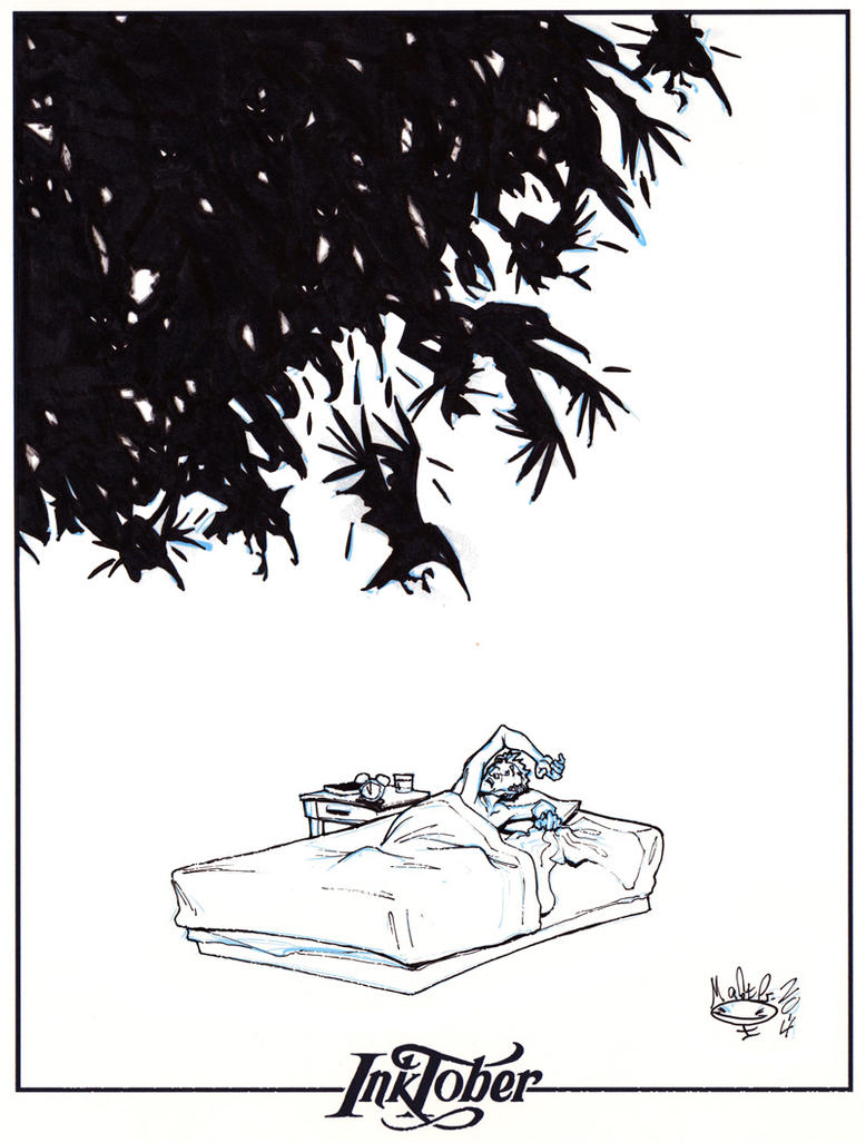 Ink-tober Day 9- Raven Mocker by AdamMasterman