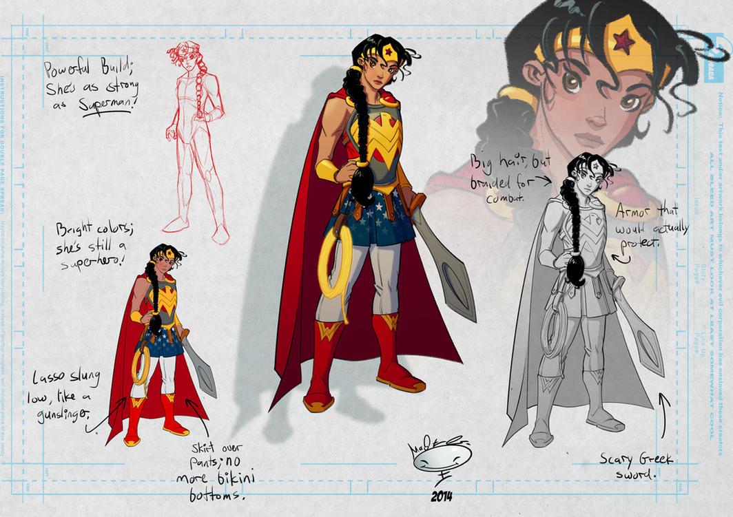Wonder Woman Re-design by AdamMasterman