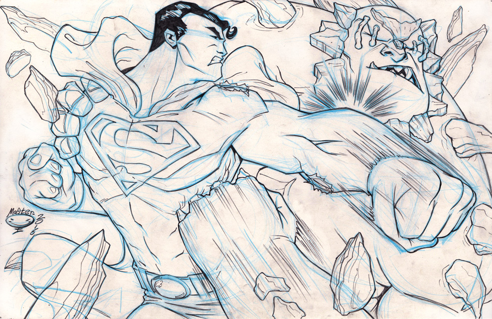 Superman and Doomsday by AdamMasterman