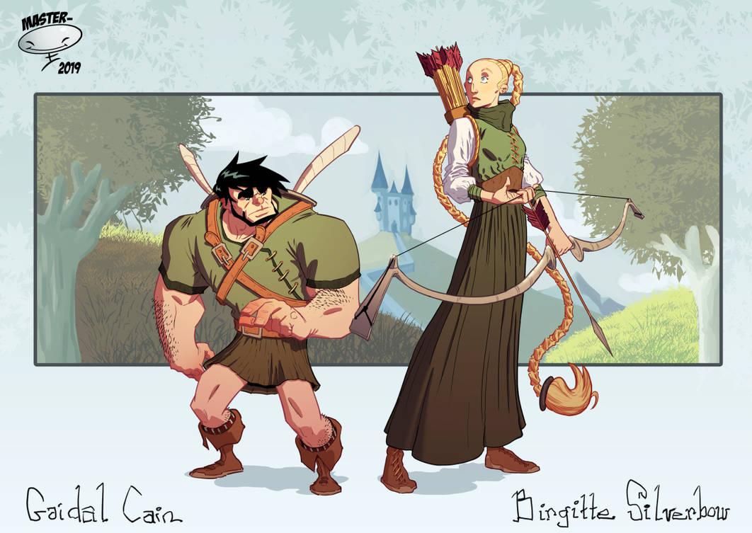 Gaidal and Birgitte by AdamMasterman