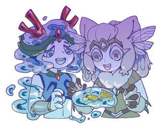 Best friends by Cyan-Y