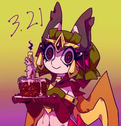 My birthday  by Cyan-Y